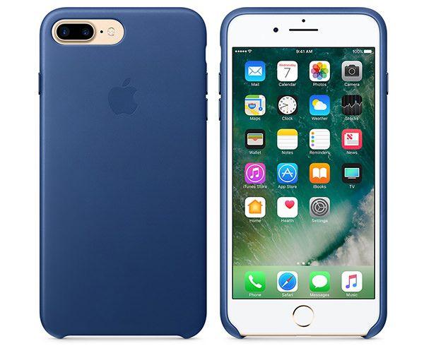Чехол-накладка для iPhone 7 Plus/8 Plus - Apple Leather Case - Sapphire (MPTF2)