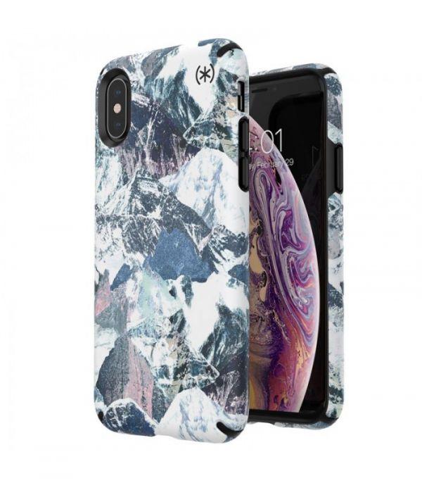 Чехол-накладка для iPhone XS/X - Speck Presidio Inked - Mountain Range/Black (SP-123800-8191)